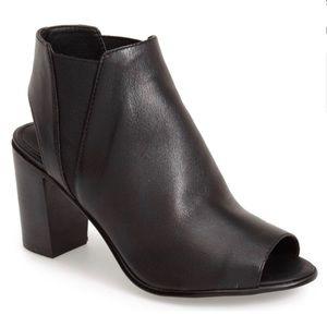 Steve Madden Nobel Open-toe Leather Bootie Black 7